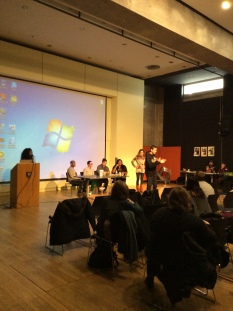 Presenters sharing the stage